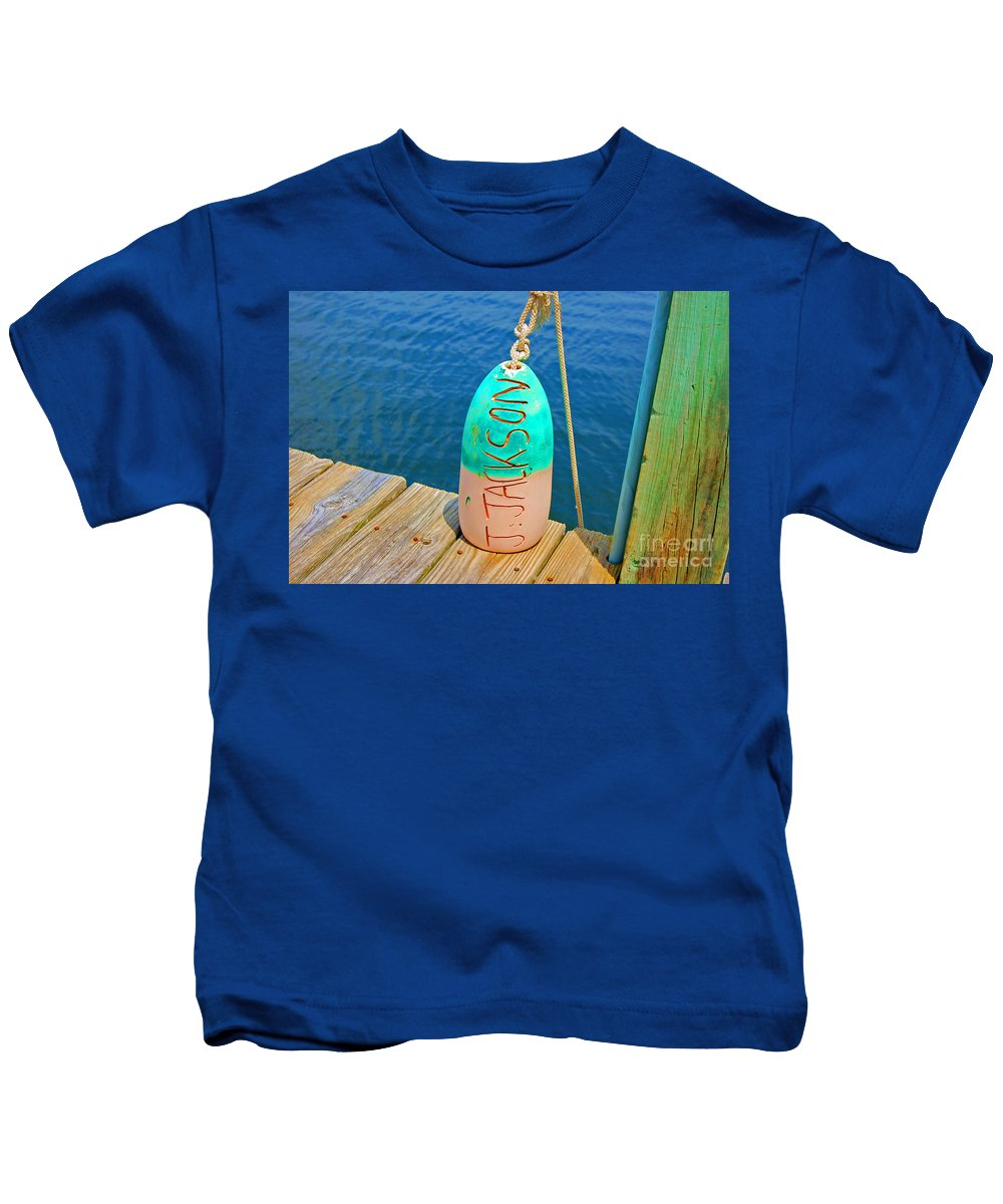 Water Kids T-Shirt featuring the photograph Its A Buoy by Debbi Granruth