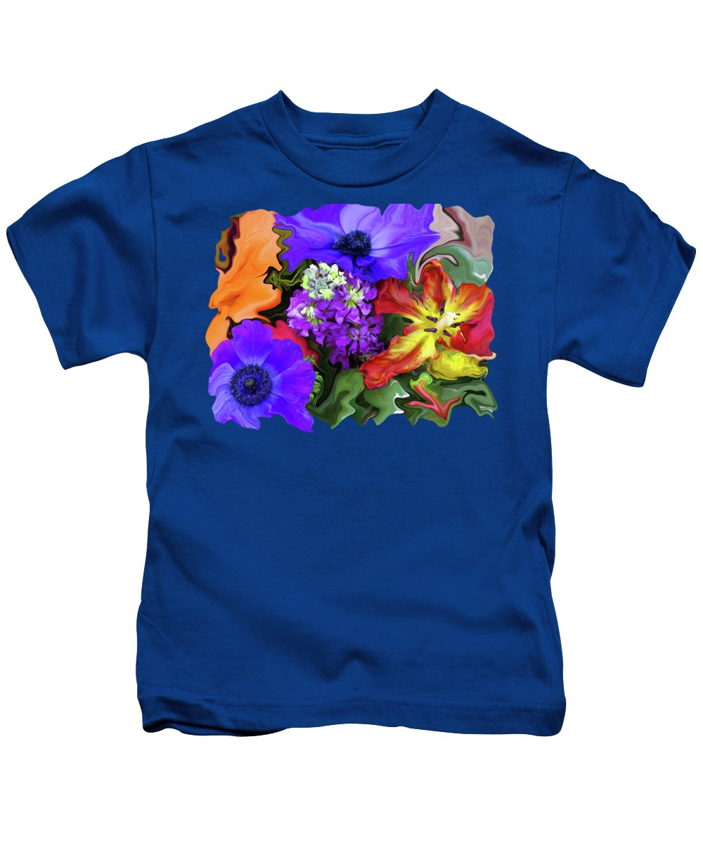 Abstract Kids T-Shirt featuring the photograph January Bouquet by Kathy Moll