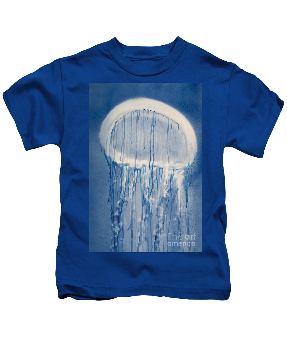 A6-csm0322 Kids T-Shirt featuring the painting Jellybean by Tanya L Haynes - Printscapes