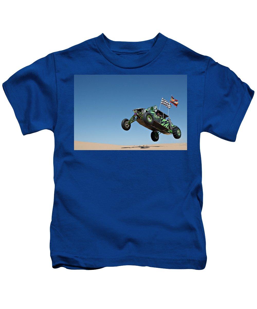 Dune Buggy Kids T-Shirt featuring the photograph Jumping Hulk by Scott Sawyer