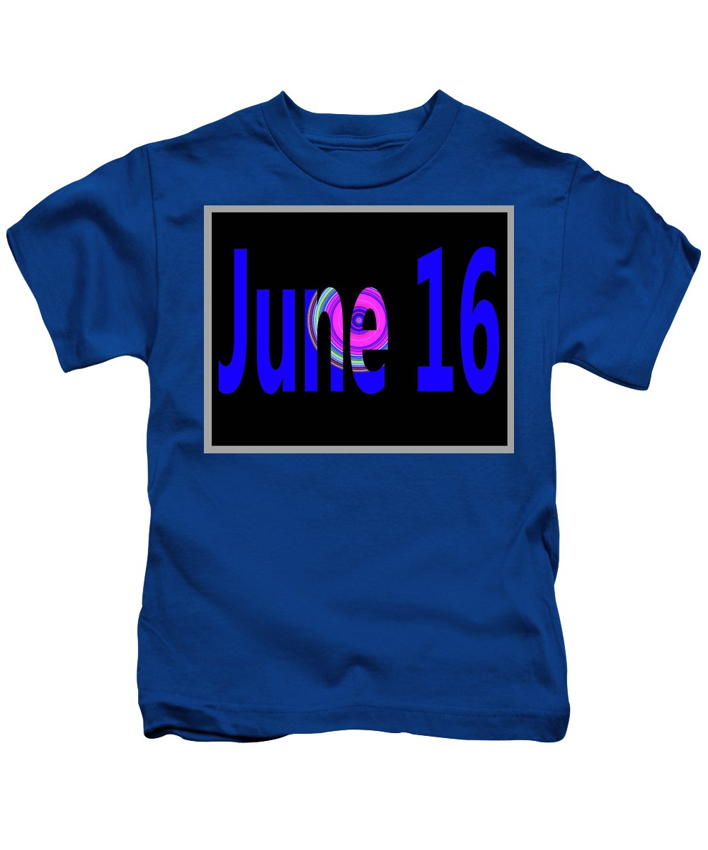June Kids T-Shirt featuring the digital art June 16 by Day Williams