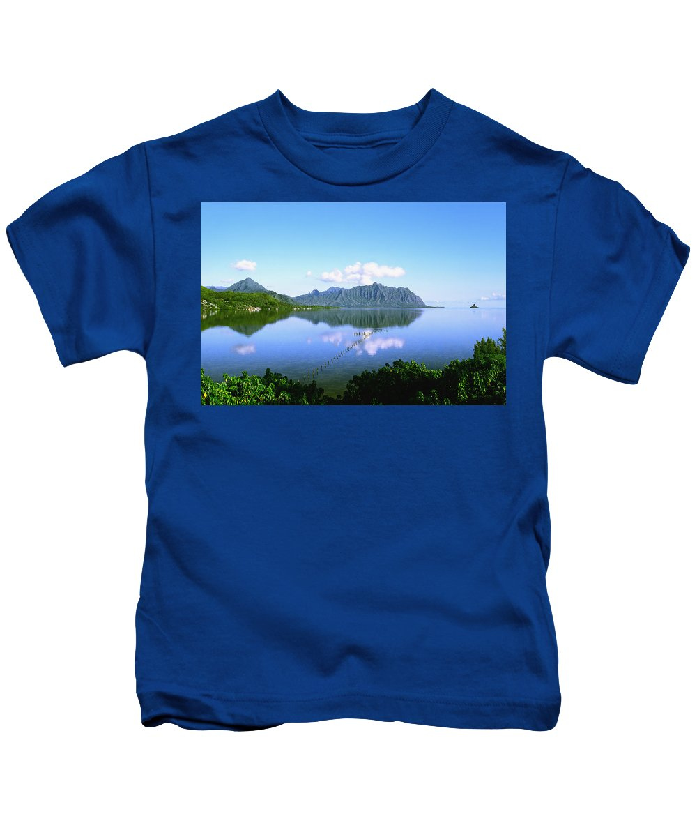 Kaneohe Bay Kids T-Shirt featuring the photograph Kaneohe Bay by Kevin Smith