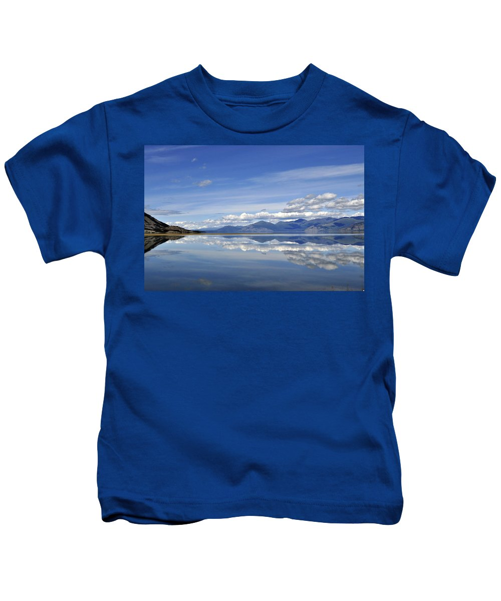 Summer Kids T-Shirt featuring the photograph Kluane Summer by Cathy Mahnke