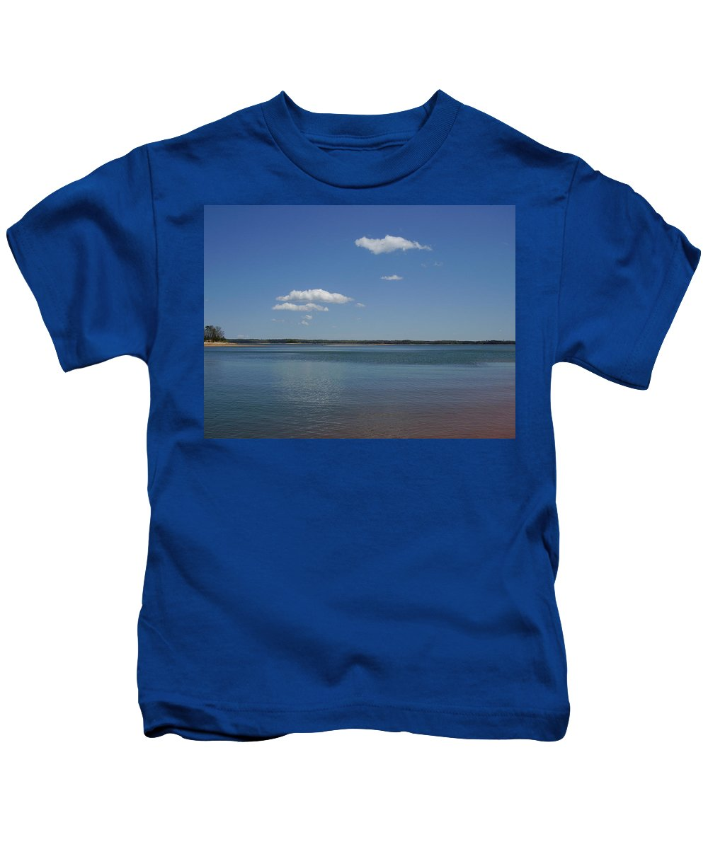 Lake Hartwell Kids T-Shirt featuring the photograph Lake Hartwell by Flavia Westerwelle