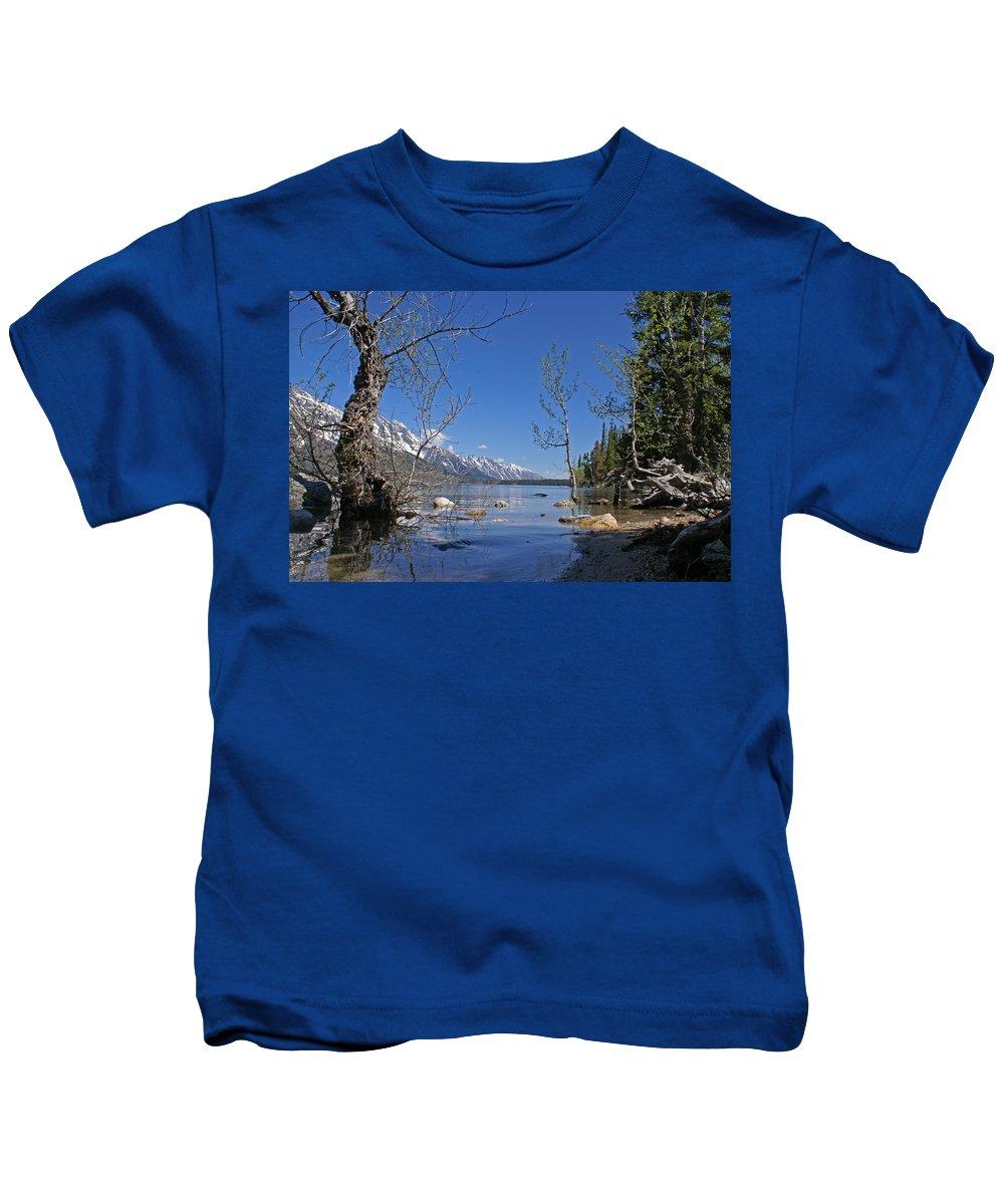 Lake Jenny Kids T-Shirt featuring the photograph Lake Jenny by Heather Coen