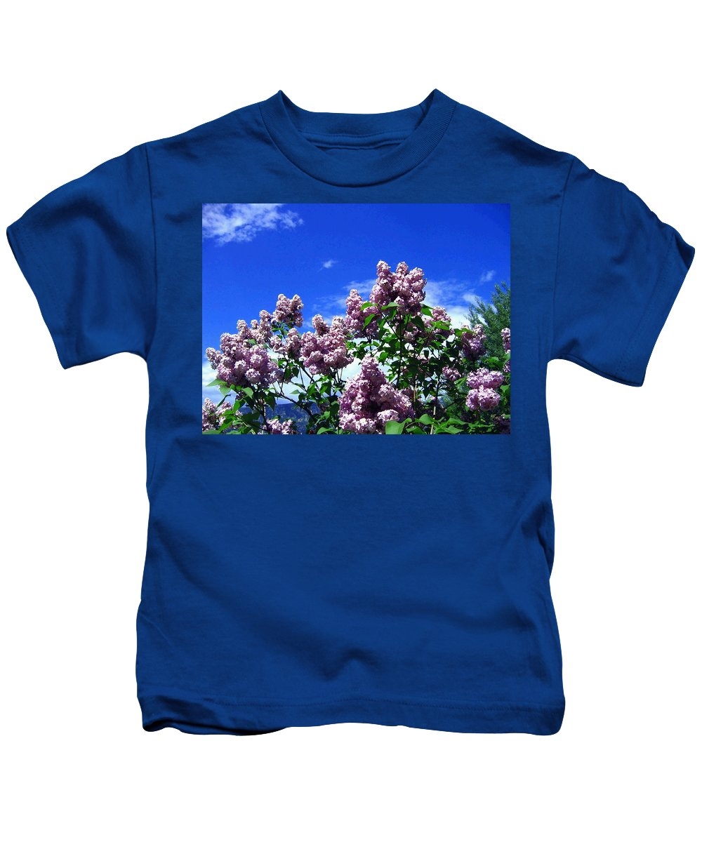 Lilacs Kids T-Shirt featuring the photograph Lavender Lilacs by Will Borden