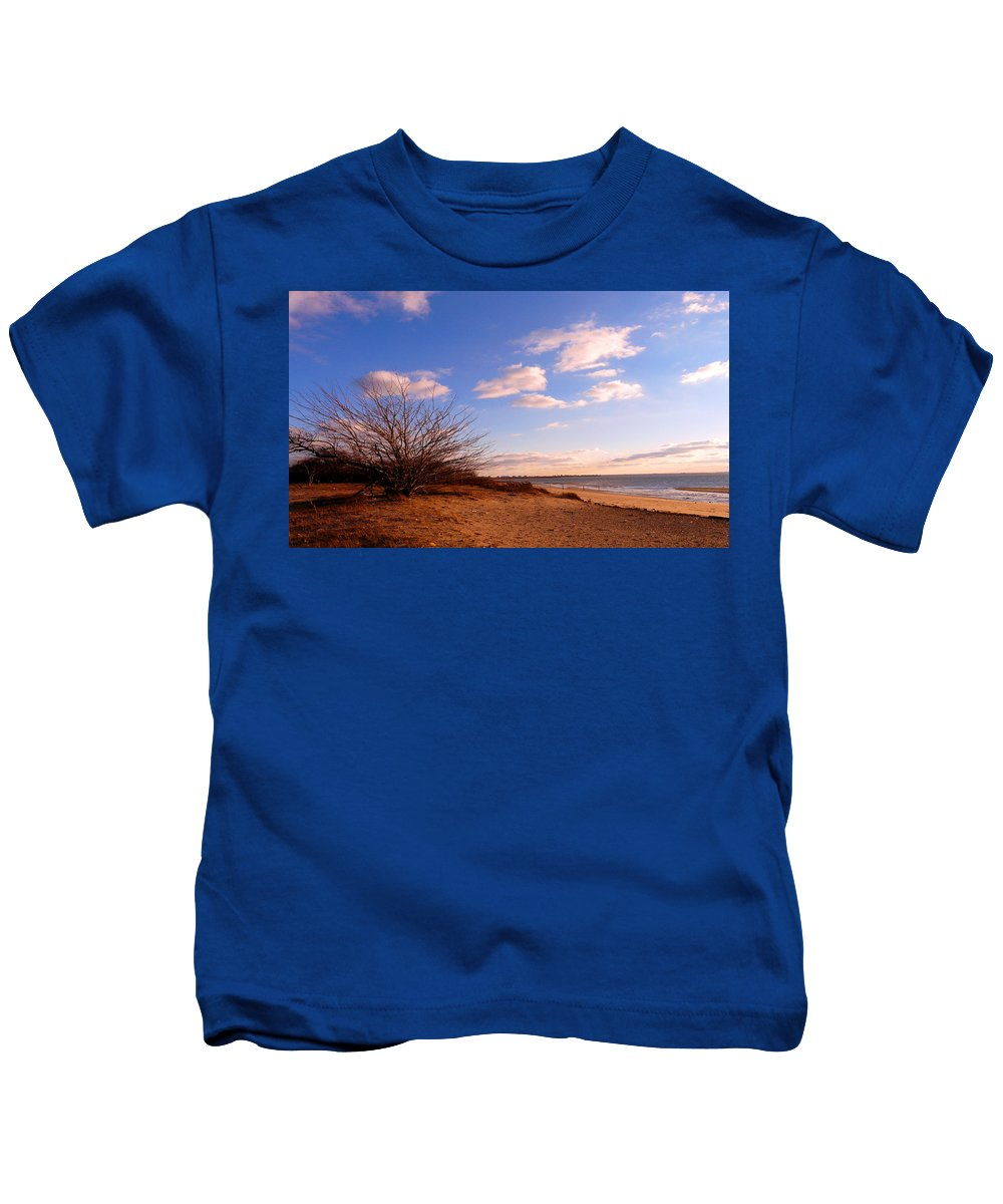 Landscape Kids T-Shirt featuring the photograph Listen To The Quiet by Kendall Eutemey