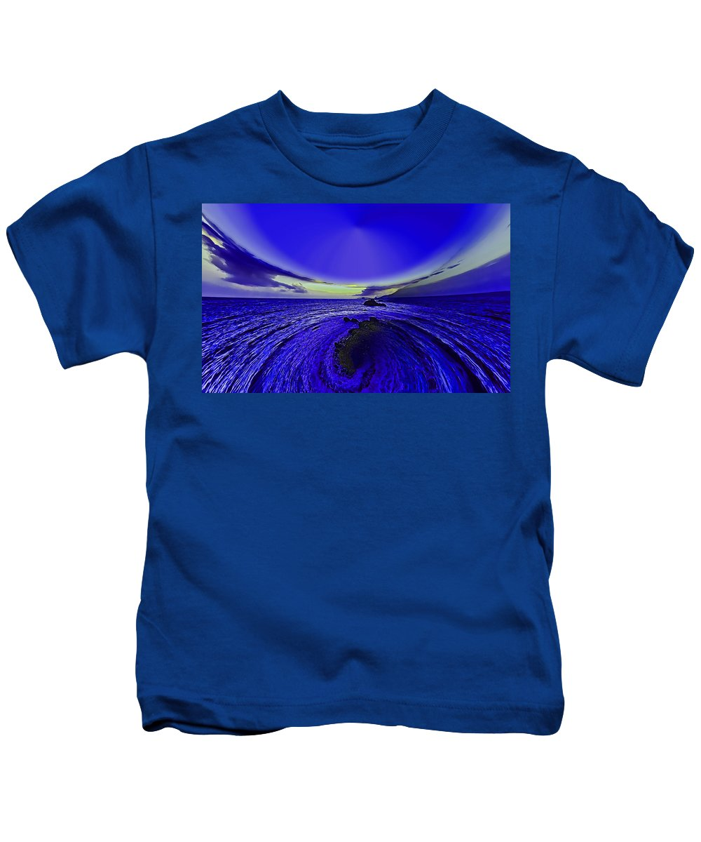 Little Kids T-Shirt featuring the photograph Little Planet Blue by Galeria Trompiz