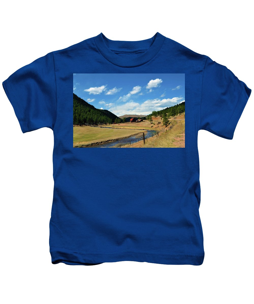Valley Kids T-Shirt featuring the photograph Living In The Valley by Angelina Vick