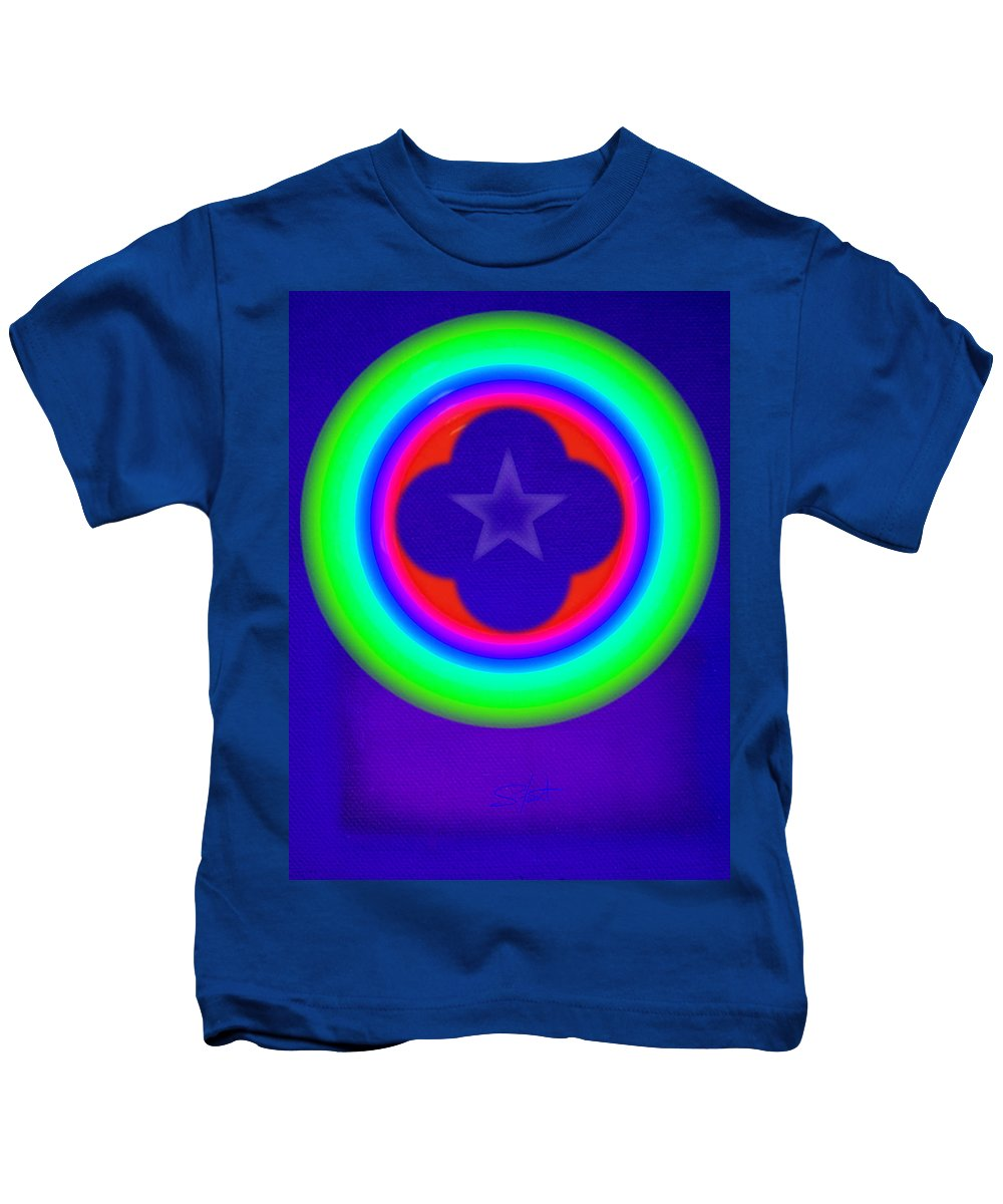 Abstract Kids T-Shirt featuring the painting Logos by Charles Stuart