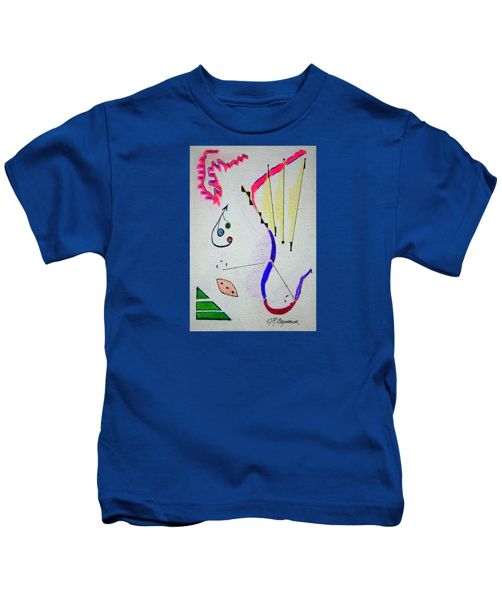 Abstract Kids T-Shirt featuring the mixed media Lost Directions by J R Seymour