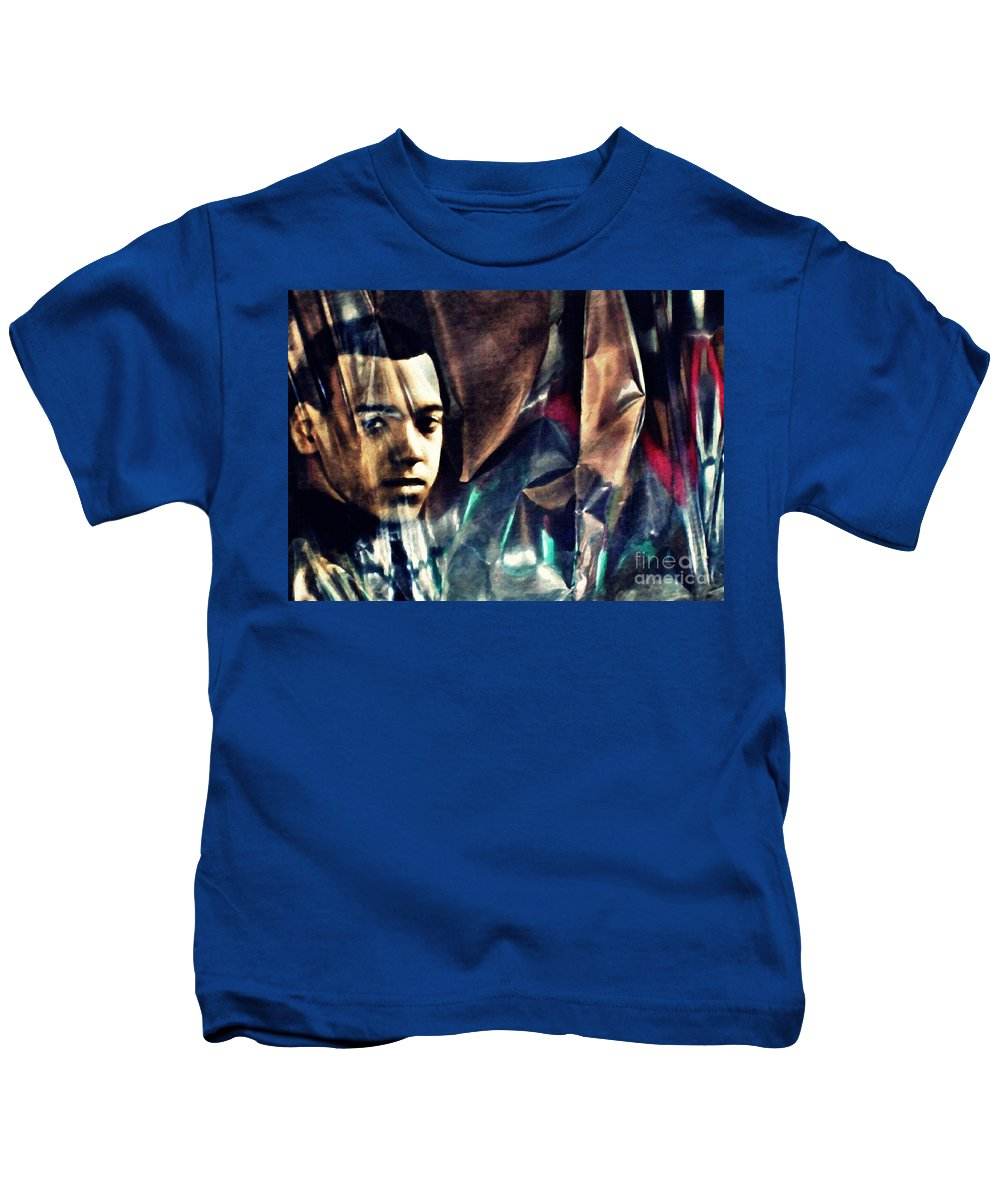 Young Man Kids T-Shirt featuring the photograph Luke by Sarah Loft