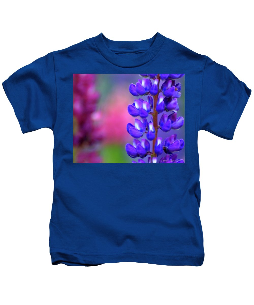 Canada Kids T-Shirt featuring the photograph Lupins 36 by Rodger Wilkie