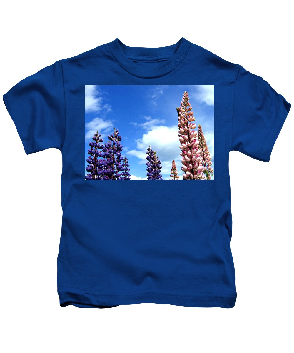 Lupins Kids T-Shirt featuring the photograph Lupins by Will Borden