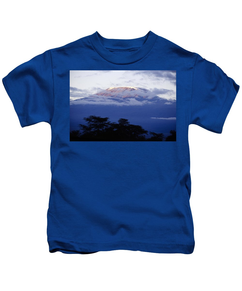 Africa Kids T-Shirt featuring the photograph Magnificent Mount Kilimanjaro by Michele Burgess