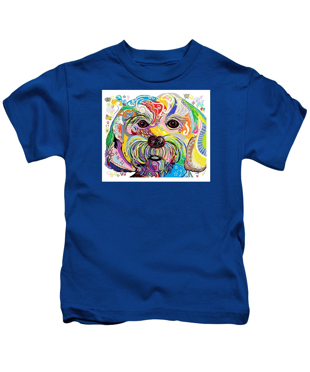 Maltese Kids T-Shirt featuring the painting Maltese Puppy by Eloise Schneider Mote