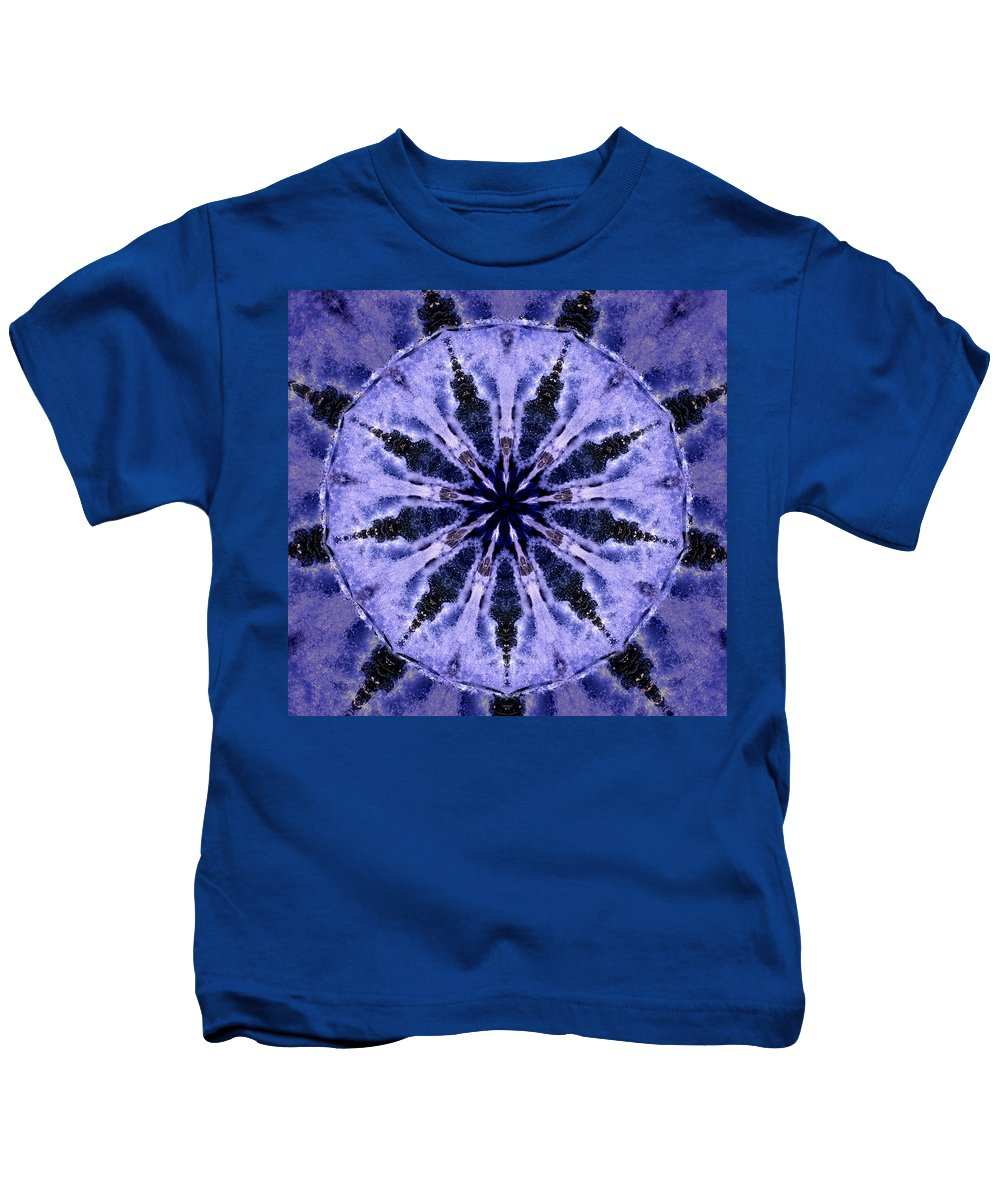 Mandala Kids T-Shirt featuring the digital art Mandala Ocean Wave by Nancy Griswold