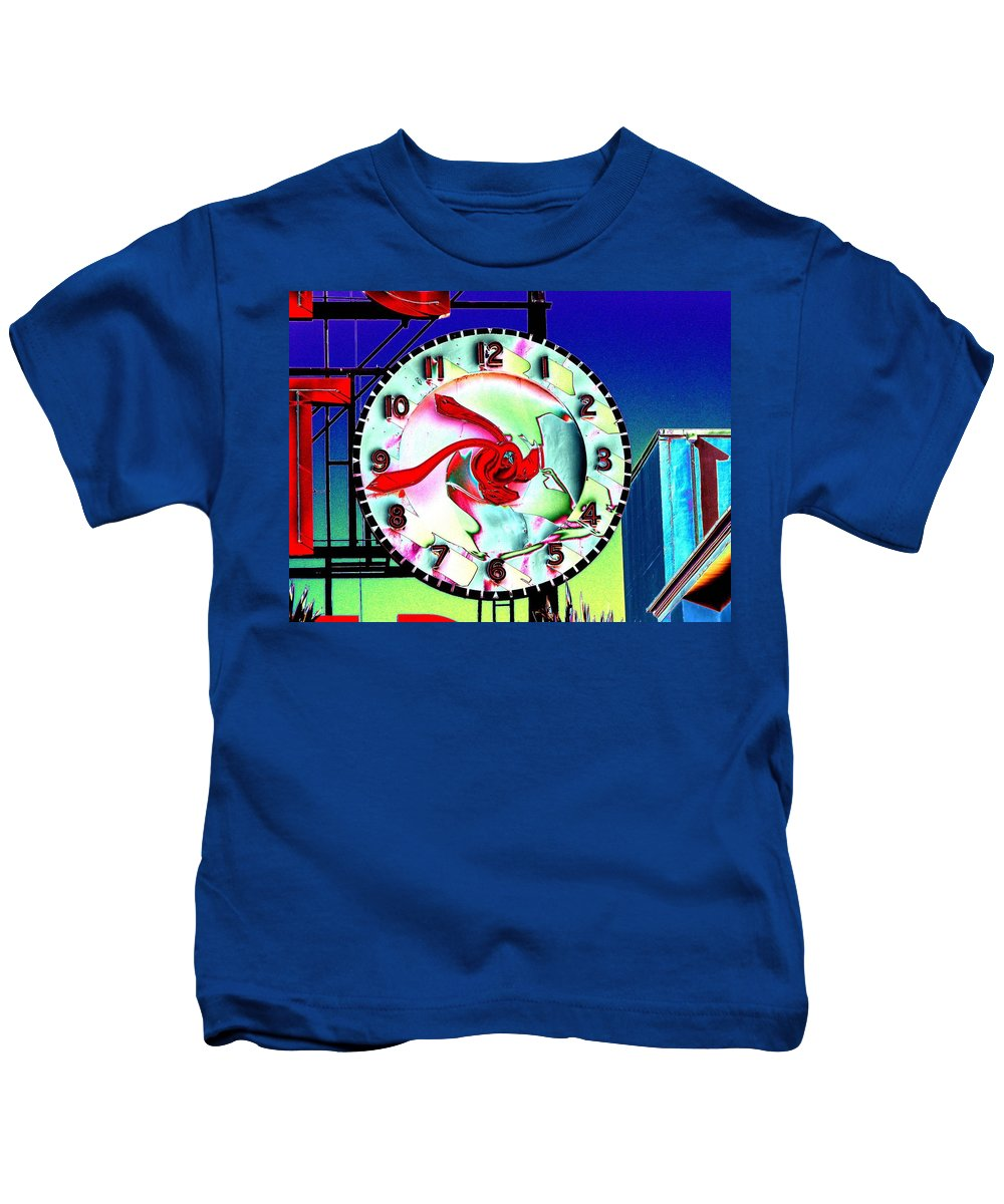 Seattle Kids T-Shirt featuring the photograph Market Clock 2 by Tim Allen