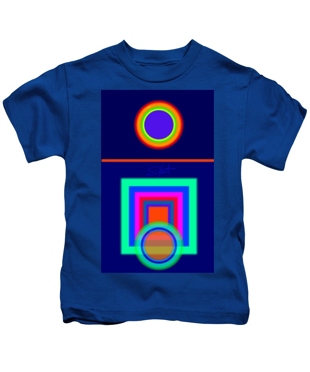 Classical Kids T-Shirt featuring the digital art Midnight Journey by Charles Stuart