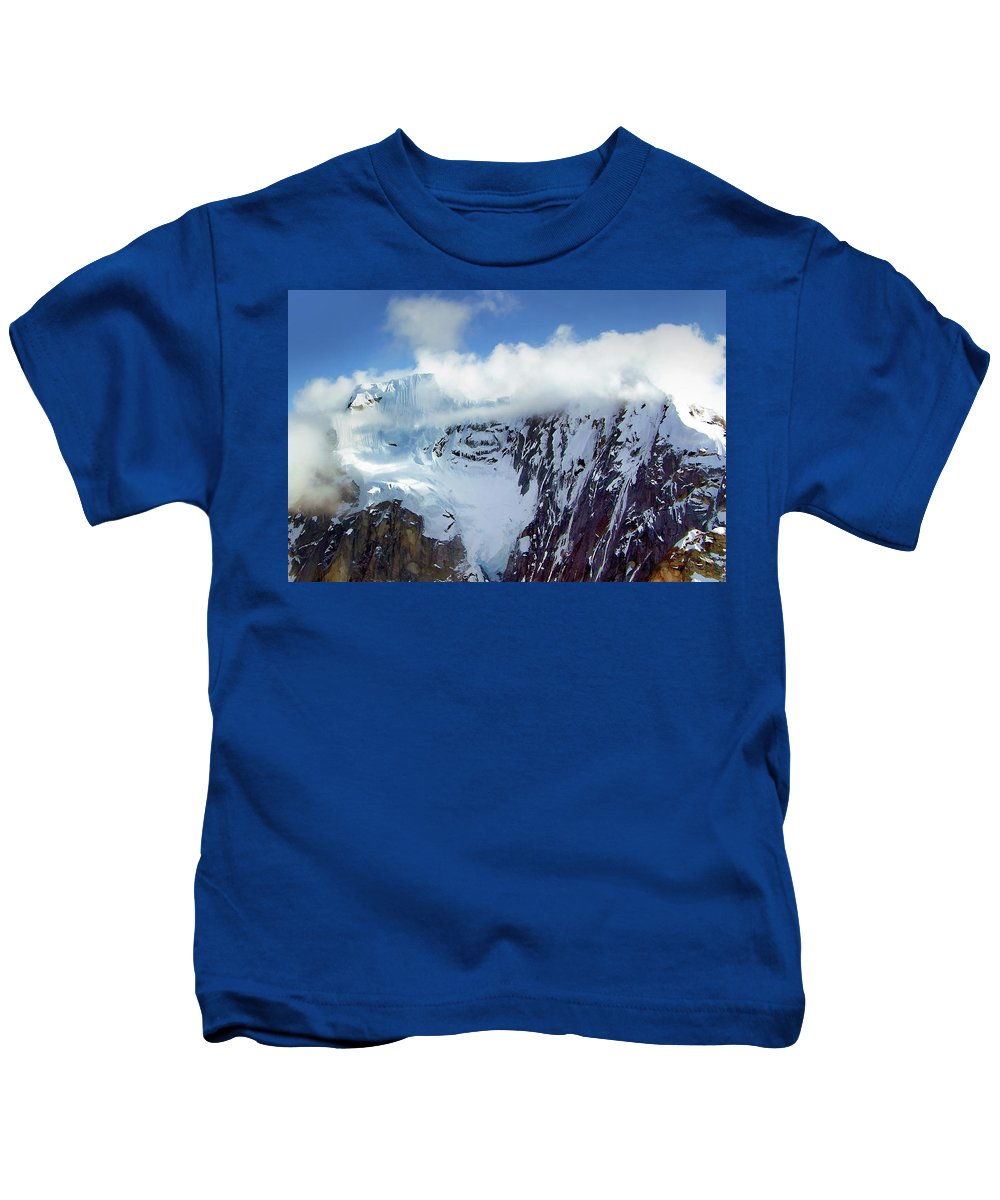 Denali Kids T-Shirt featuring the photograph Misty Mountain Flat Top by Timothy Manning