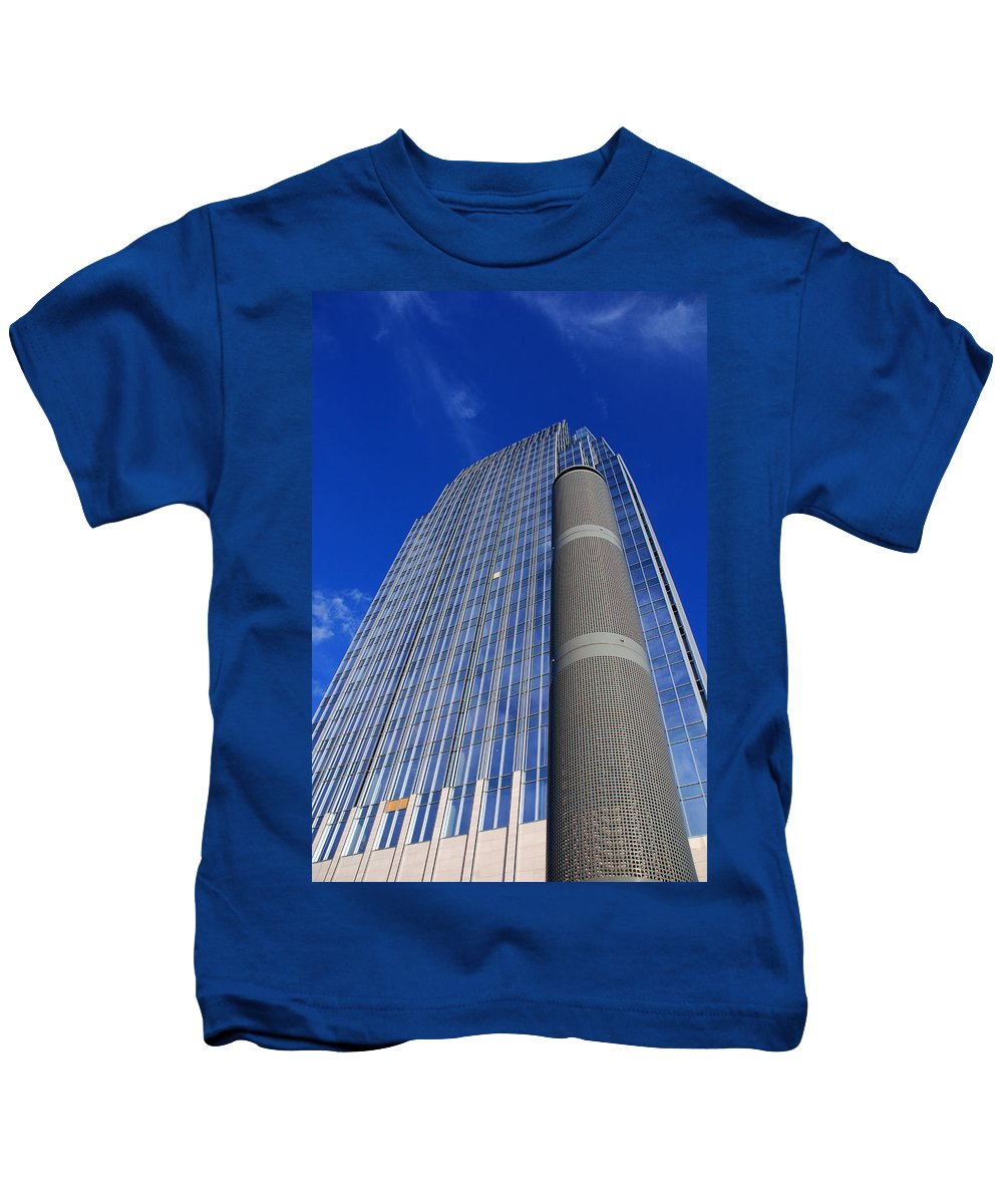 Glass Building Kids T-Shirt featuring the photograph Modern Architecture II by Susanne Van Hulst