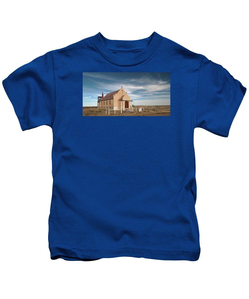 Church Kids T-Shirt featuring the photograph Montana Church by Grant Groberg