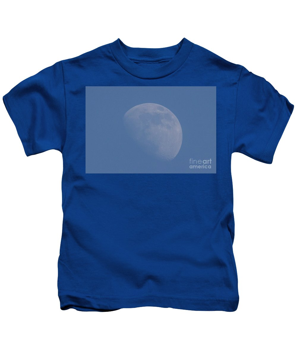 Moon Kids T-Shirt featuring the photograph Moon During The Day by Nikki Vig