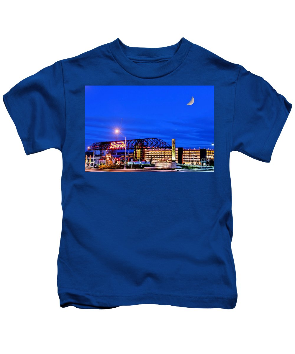 Casino Kids T-Shirt featuring the photograph Moon Over Sands by DJ Florek