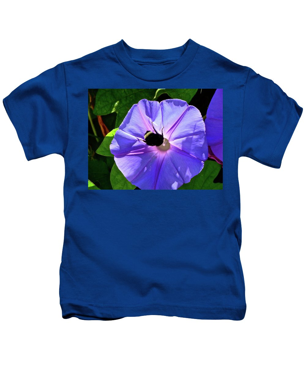 Flower Kids T-Shirt featuring the photograph Morning Glory by Diana Hatcher