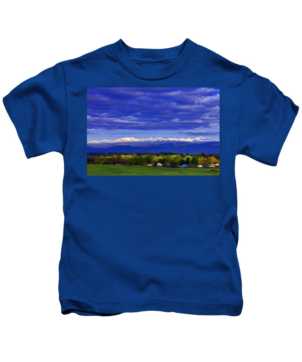 Colorado Kids T-Shirt featuring the photograph Morning View by Scott Mahon