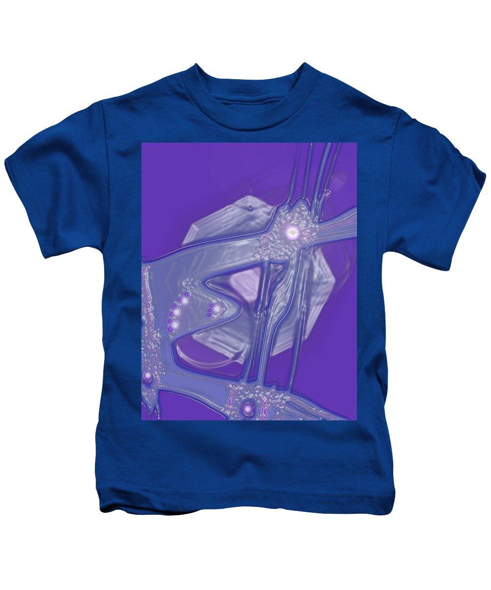 Moveonart! Digital Gallery Kids T-Shirt featuring the digital art Moveonart Creative Peaceful Creature Four by Jacob Kanduch