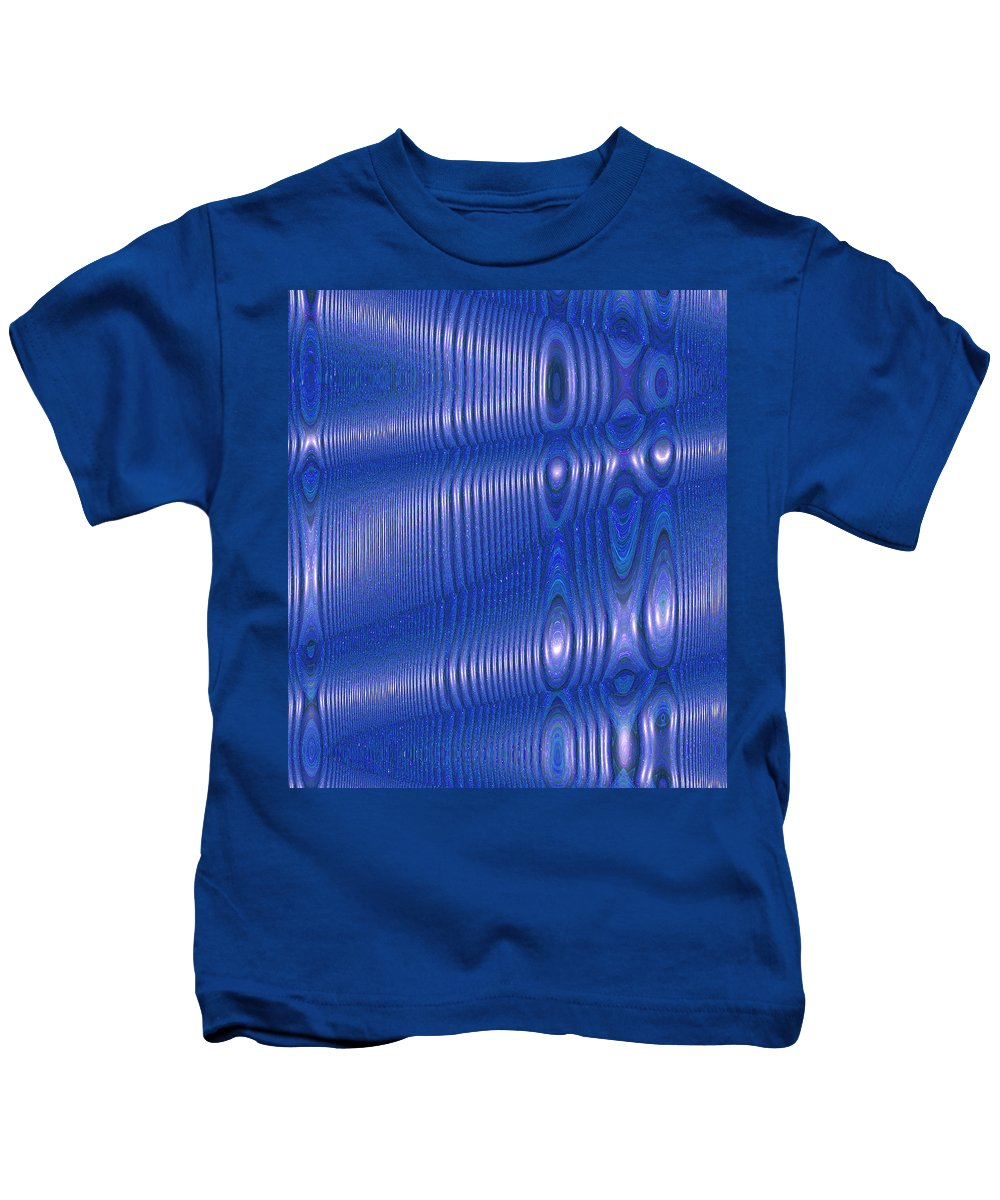 Moveonart! Digital Gallery Kids T-Shirt featuring the digital art Moveonart Future Texture Soul 1 By Jacob Kane Kanduch by Jacob Kanduch