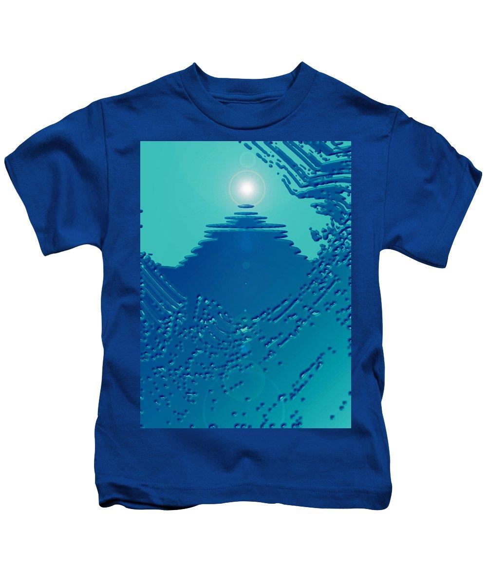 Moveonart! Digital Gallery Kids T-Shirt featuring the digital art Moveonart Green Memories One by Jacob Kanduch
