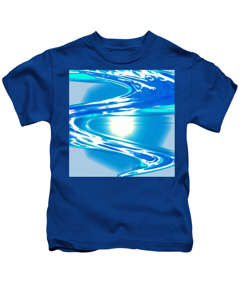 Moveonart! Digital Gallery Kids T-Shirt featuring the digital art Moveonart Impressive Wave Of Renewal Coming by Jacob Kanduch