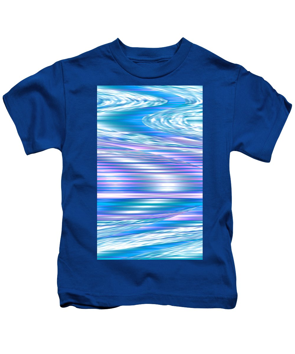 Moveonart! Digital Gallery Kids T-Shirt featuring the digital art Moveonart Longing For Waves Of Renewal by Jacob Kanduch