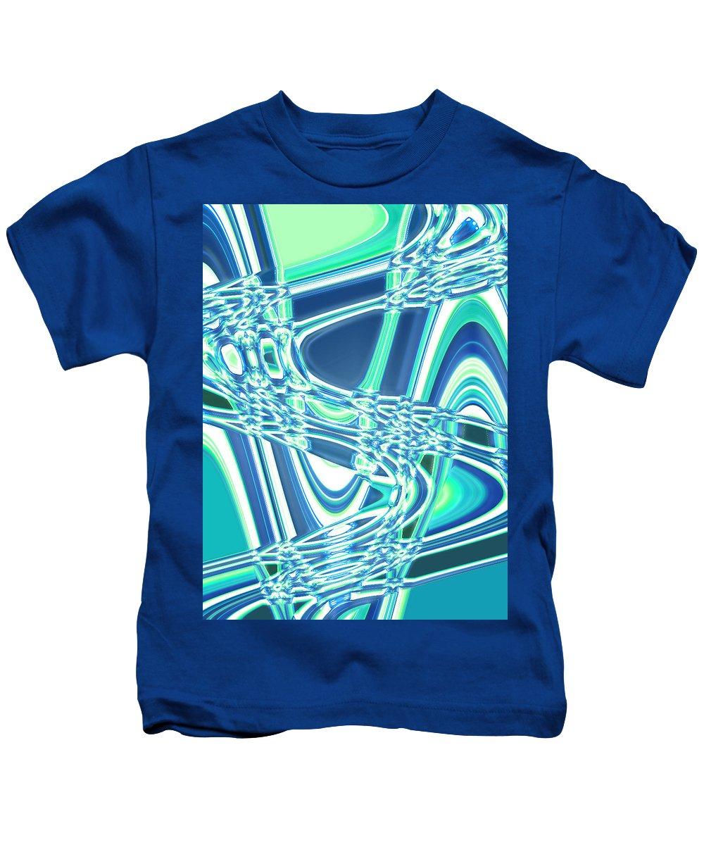 Moveonart! Digital Gallery Kids T-Shirt featuring the digital art Moveonart Sharing Our Strength by Jacob Kanduch