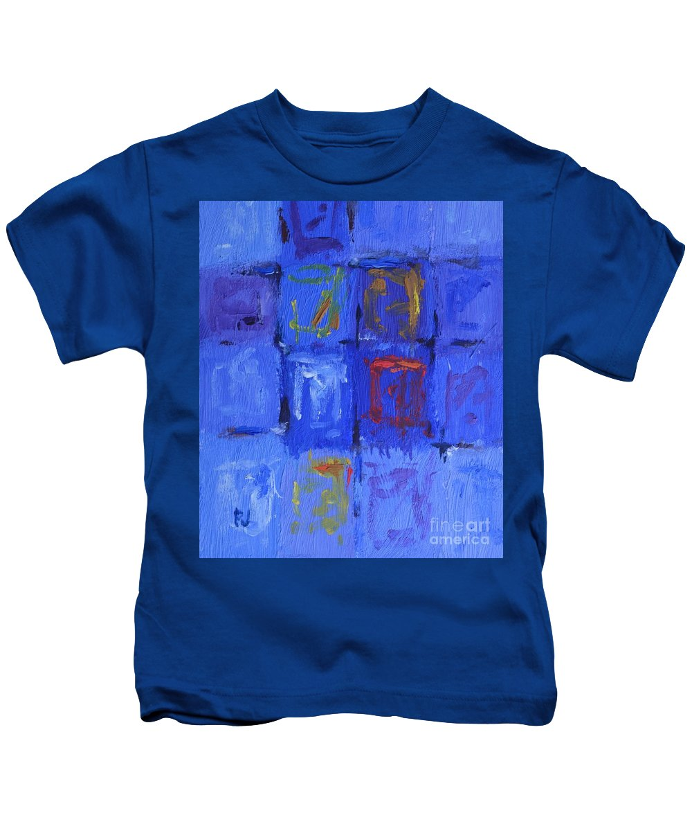 Moving On Kids T-Shirt featuring the painting Moving On by Philip Jones