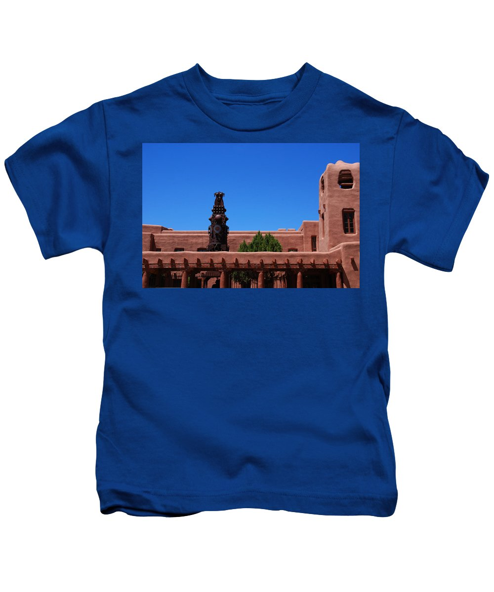 Museum Kids T-Shirt featuring the photograph Museum Of Indian Arts And Culture Santa Fe by Susanne Van Hulst