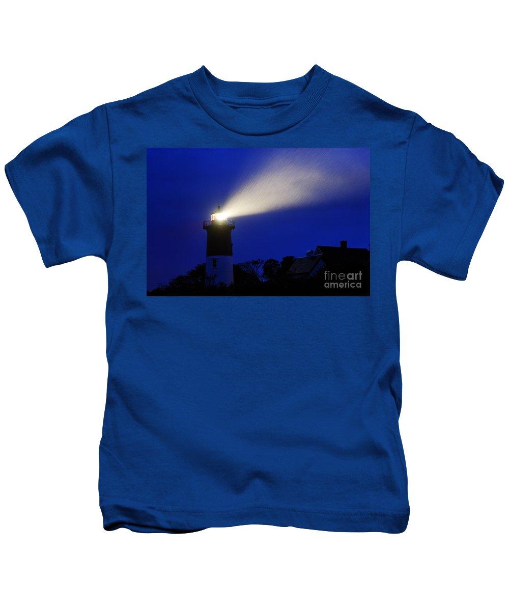 Cape Cod Kids T-Shirt featuring the photograph Nauset Light Storm by John Greim