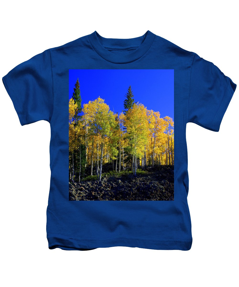 Fall Colors Kids T-Shirt featuring the photograph Nevada Fall by Marty Koch