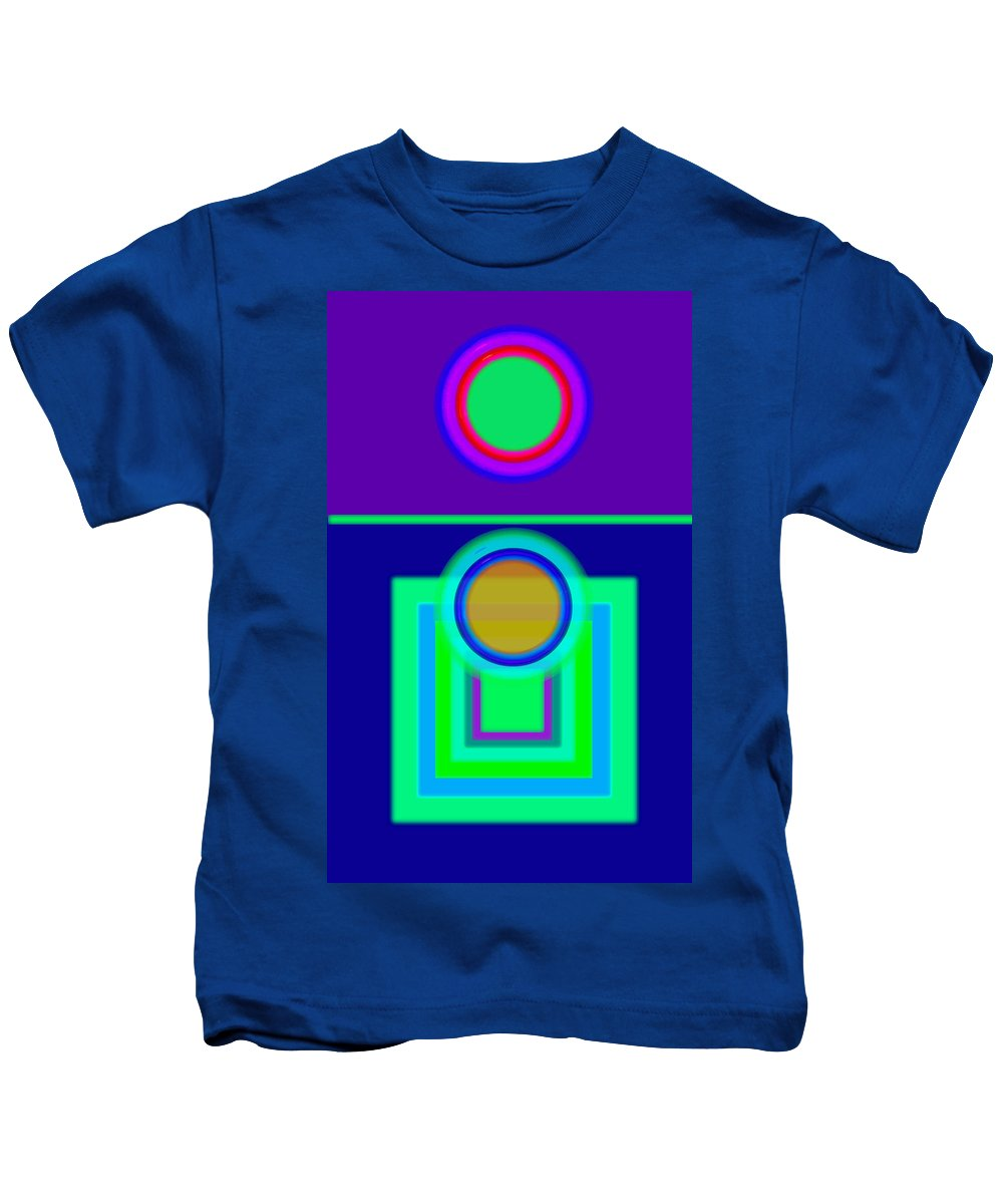 Classical Kids T-Shirt featuring the digital art Night Game by Charles Stuart