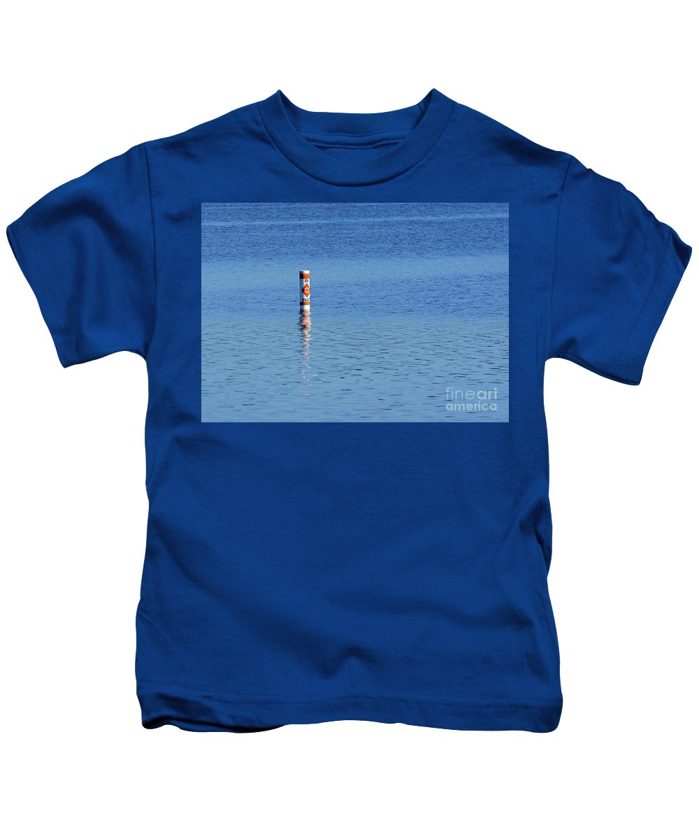 Blue Kids T-Shirt featuring the photograph No Boats by Robin Clifton