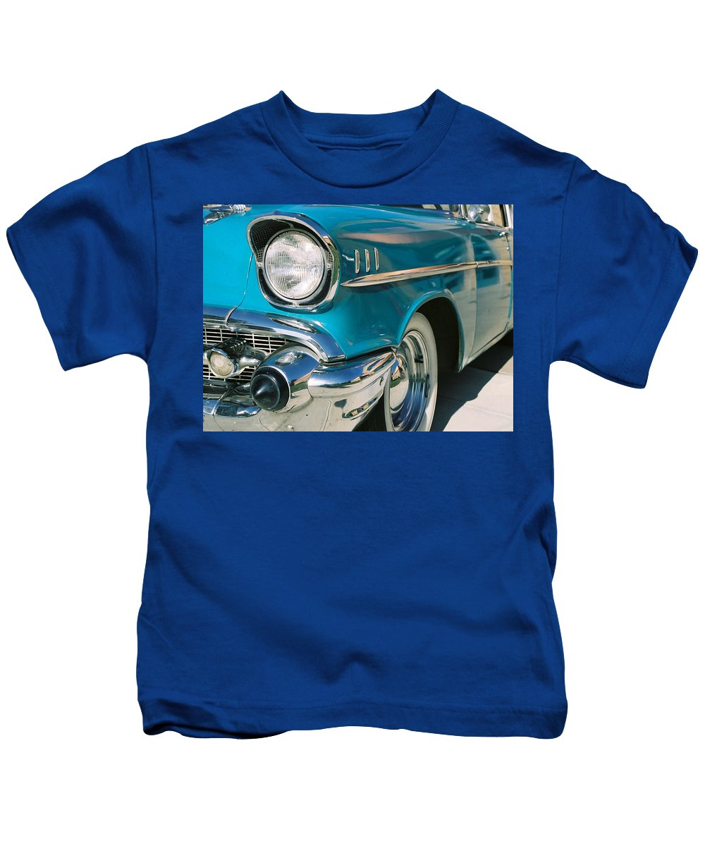 Chevy Kids T-Shirt featuring the photograph Old Chevy by Steve Karol