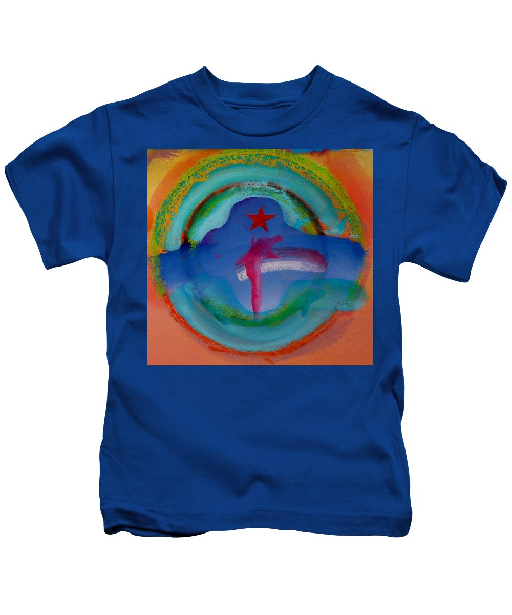 Logo Kids T-Shirt featuring the painting one by Charles Stuart