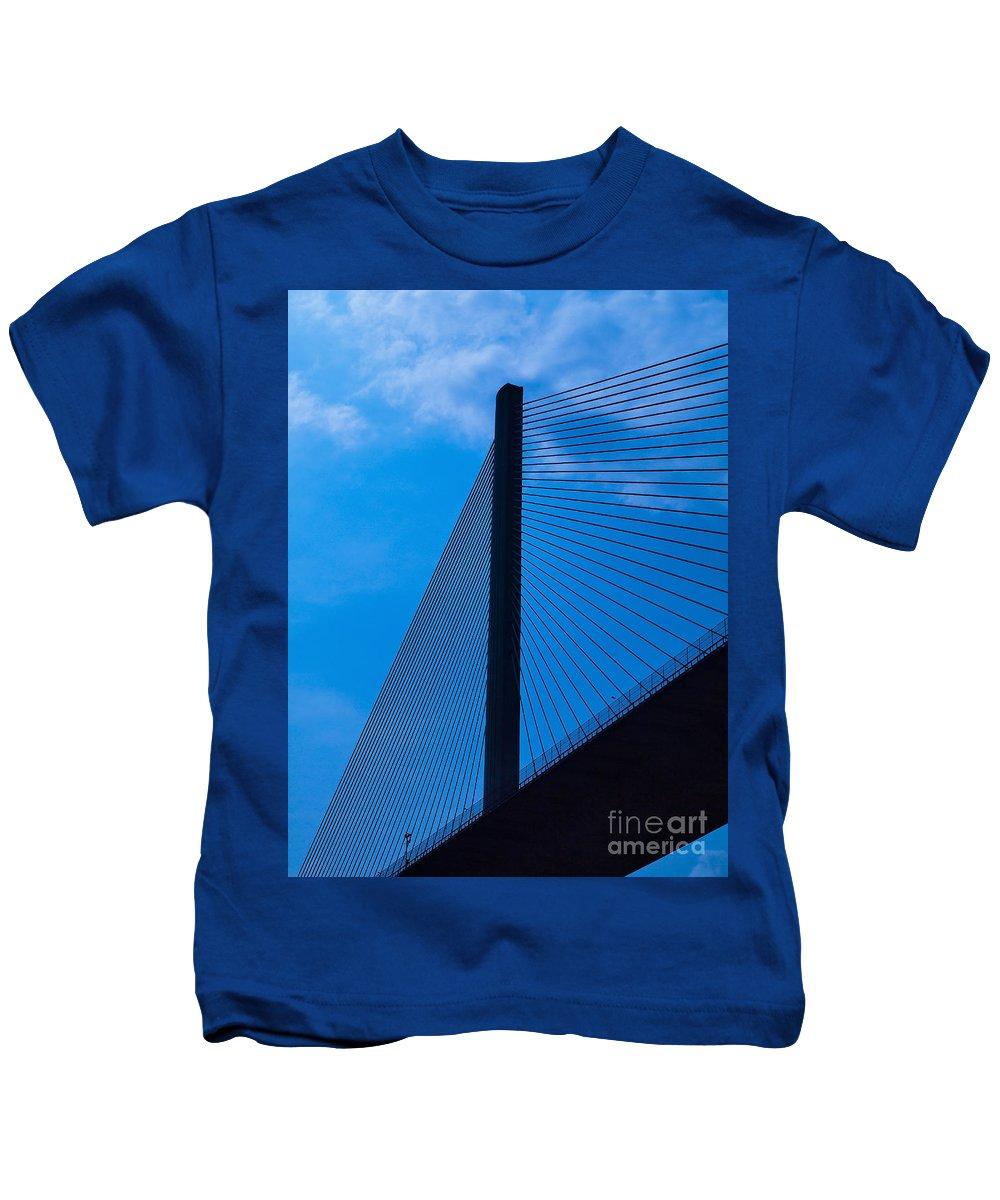 Bridge Kids T-Shirt featuring the photograph Panama074 by Howard Stapleton