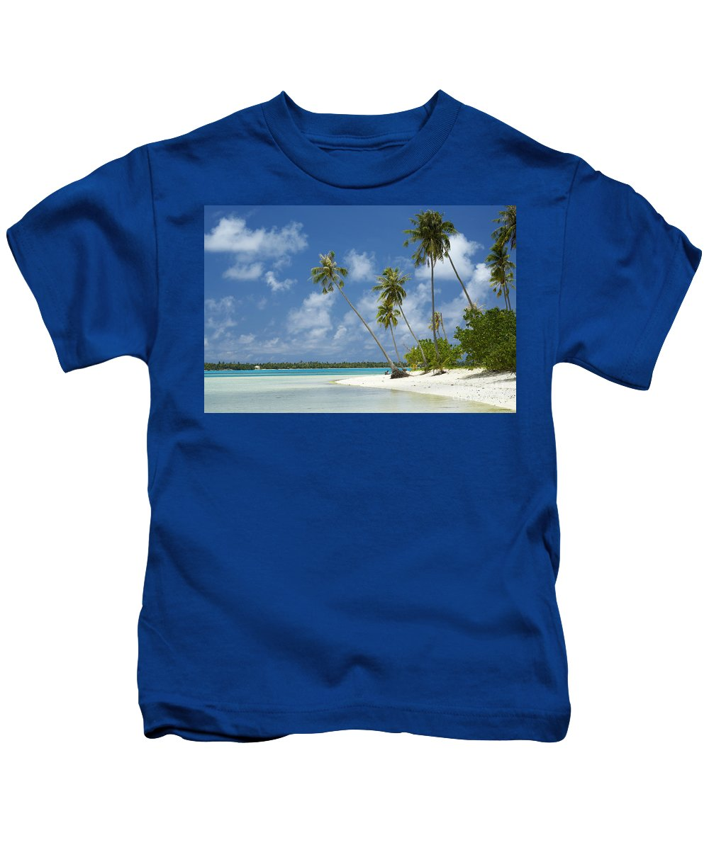 Beach Kids T-Shirt featuring the photograph Paradise - Maupiti Lagoon by Kyle Rothenborg - Printscapes