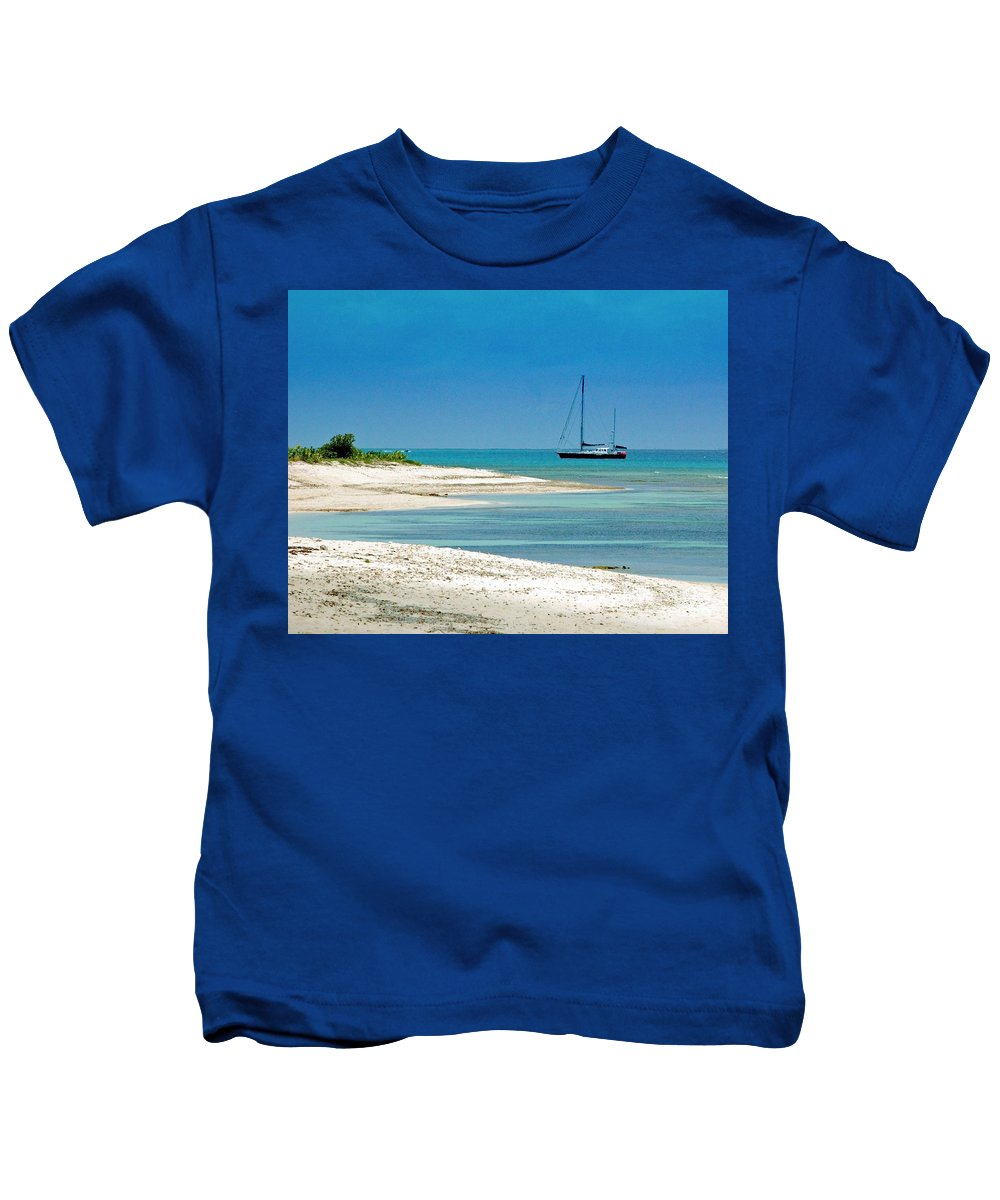 Boat Kids T-Shirt featuring the photograph Paradise Found by Debbi Granruth