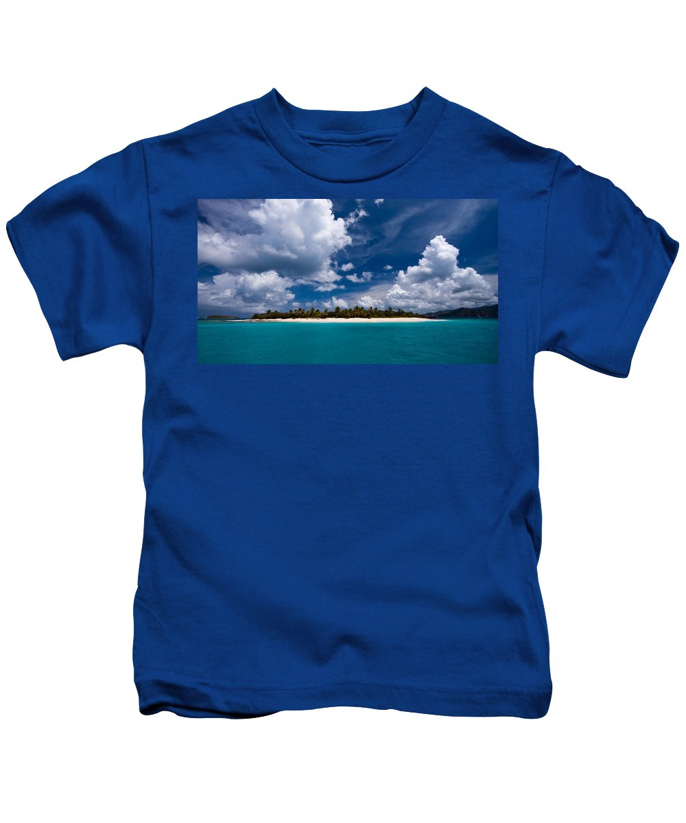 3scape Kids T-Shirt featuring the photograph Paradise Is Sandy Cay by Adam Romanowicz