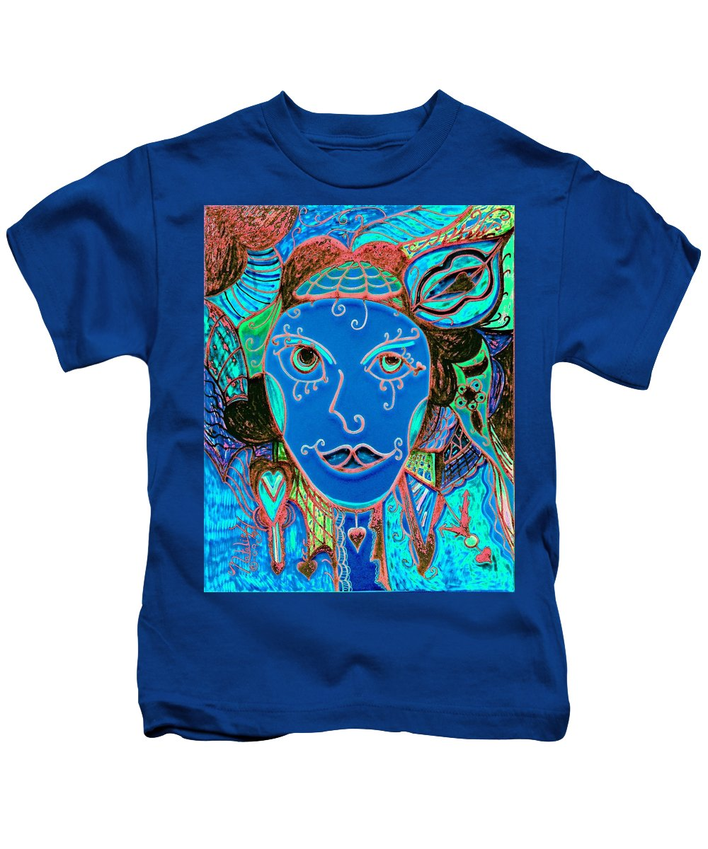Party Girl Kids T-Shirt featuring the painting Party Girl by Natalie Holland