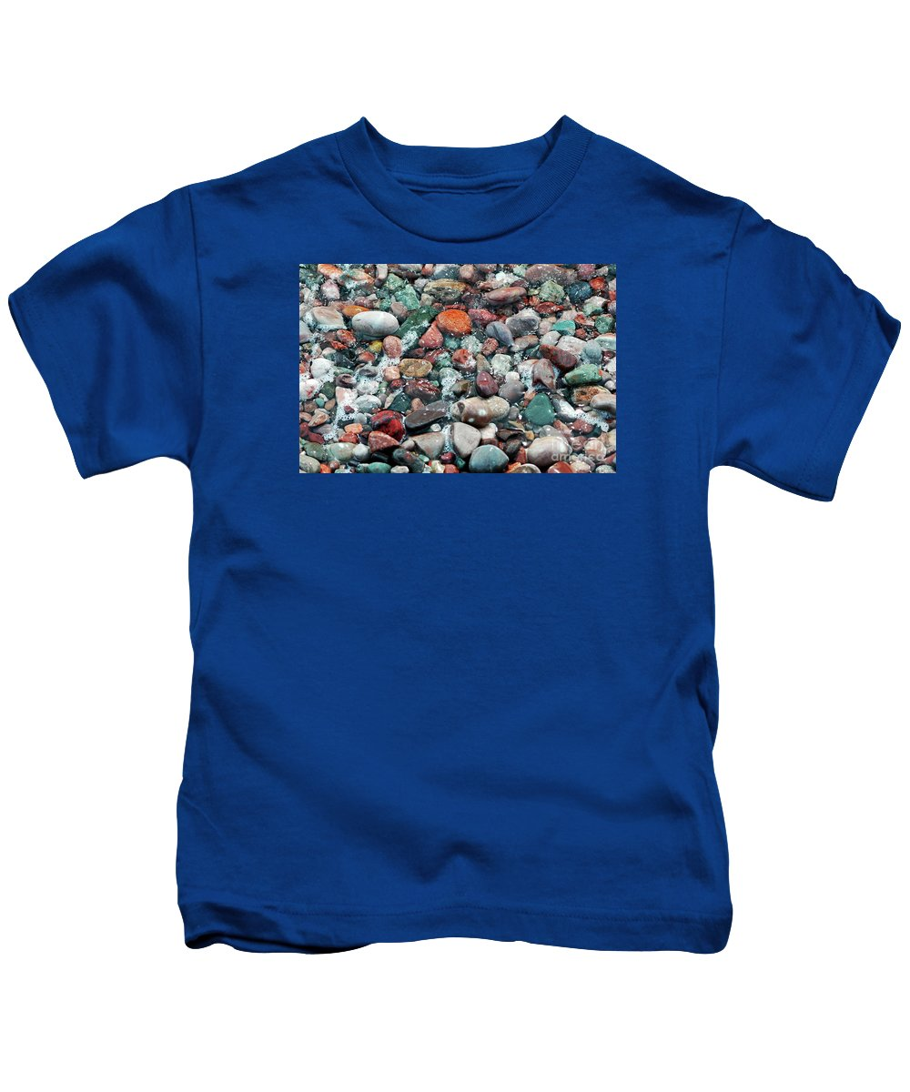 #pebbles Kids T-Shirt featuring the photograph Pebbles by Kathleen Struckle